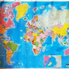 Mapas contemporáneos: MAPAMUNDI - AÑO 1985 - IMPRESO POR GRAFICAS SUMMA S.A. OVIEDO. TAMAÑO 115 X 71 CMS. Lote 143851946