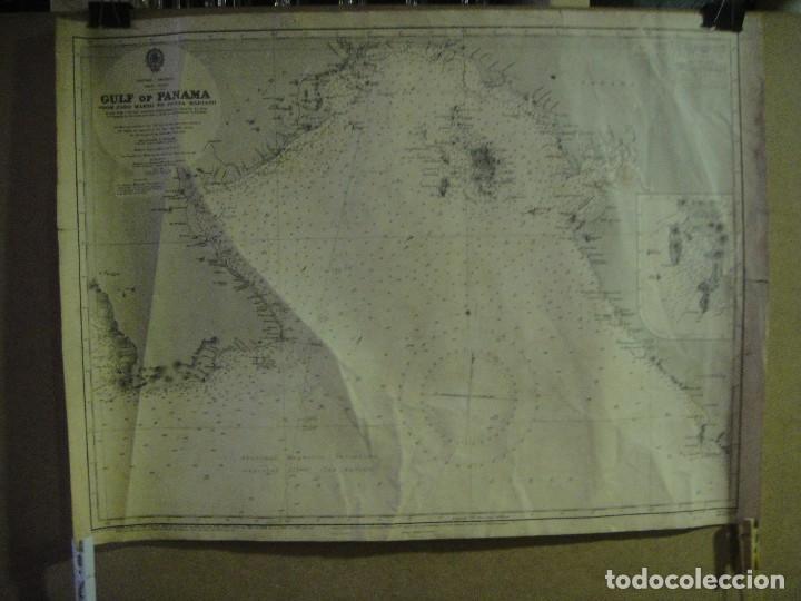 MAPA , CARTA DE NAVEGACION DEL GOLFO DE PANAMA - DESDE CABO MARZO HASTA PUNTA MARIATO (Coleccionismo - Mapas - Mapas actuales (desde siglo XIX))