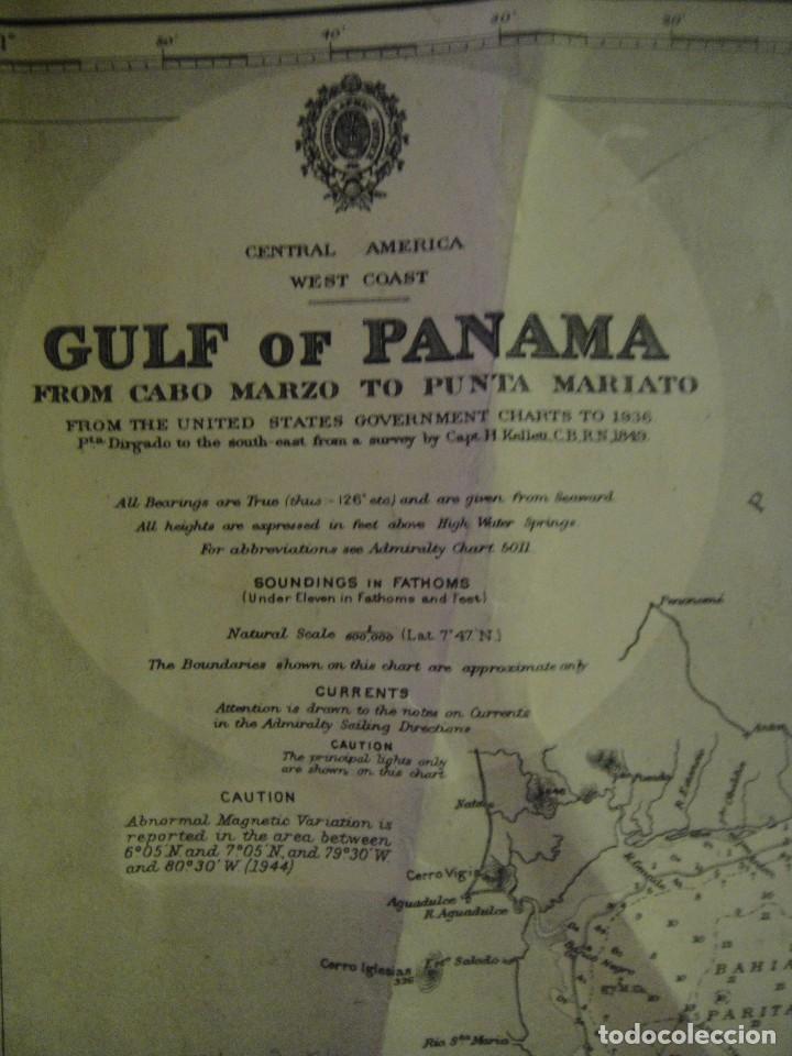 Mapas contemporáneos: mapa , carta de navegacion del golfo de panama - desde cabo marzo hasta punta mariato - Foto 3 - 143947758