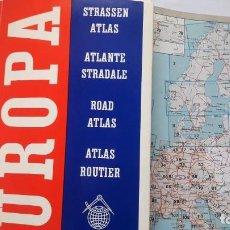 Mapas contemporáneos: MAPA DE CARRETERAS DE TODOS LOS PAISES DE EUROPA. AÑOS 60.. Lote 144588466