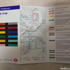 Mapas contemporáneos: MAPA METRO LONDRES (LONDON TUBE MAP) 2009. Lote 144655114