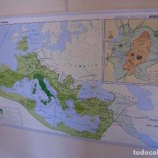 Mapas contemporáneos: MAPA ESCOLAR GRAN FORMATO DOBLE CARA GRECIA Y ROMA VICENS VIVES. Lote 145180358