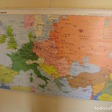 Mapas contemporáneos: MAPA ESCOLAR GRAN FORMATO DOBLE CARA GUERRA FRÍA VICENS VIVES. Lote 145180430