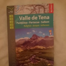 Mapas contemporáneos: MAPA - VALLE DEL TENA -PANTICOSA -PARTACUA -SALLENT - BALAITUS -ANAYET -INFIERNOS. Lote 145299962