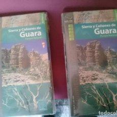 Mapas contemporáneos: MAPAS Y GUIAS - SIERRA Y CAÑONES DE GUARA - EN ESPAÑOL Y FRANCES. Lote 145300538