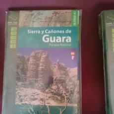 Mapas contemporáneos: MAPA Y GUIA - SIERRA Y CAÑONES DE GUARA - EN ESPAÑOL Y FRANCES. Lote 145300598