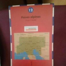 Mapas contemporáneos: MAPA - LA VANGUARDIA RUTAS - N 12 - PAISES ALPINOS. Lote 145300686