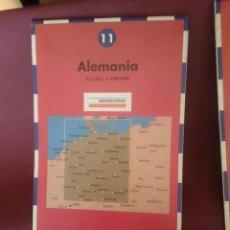 Mapas contemporáneos: MAPA - LA VANGUARDIA RUTAS - N 11 - ALEMANIA. Lote 145300698