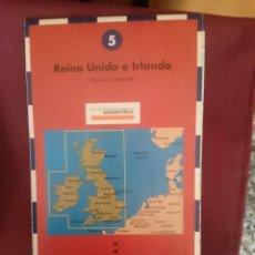 Mapas contemporáneos: MAPA - LA VANGUARDIA RUTAS - N 5 - REINO UNIDO E IRLANDA. Lote 145300738