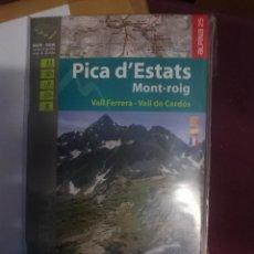 Mapas contemporáneos: MAPA Y GUIA -PICA D´ESTATS MONT-ROIG -VALL FERRERA - VALL DE CARDOS -EN ESPAÑOL CATALAN Y FRANCES. Lote 145380622