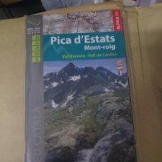 Mapas contemporáneos: MAPA Y GUIA -PICA D´ESTATS MONT-ROIG -VALL FERRERA - VALL DE CARDOS -EN ESPAÑOL CATALAN Y FRANCES. Lote 145380626