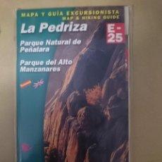 Mapas contemporáneos: MAPA Y GUIA -LA PEDRIZA -PARQUE NATURAL PEÑALARA -PARQUE ALTO MANZANARES -EN ESPAÑOL E INGLES -REF-. Lote 145380662