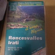 Mapas contemporáneos: MAPA Y GUIA - RONCESVALLES - IRATI -REF-HAULDEPUCANINIZPAATR. Lote 145380830