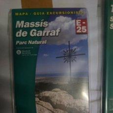 Mapas contemporáneos: MAPA Y GUIA - MASSIS DE GARRAF -PARC NATURAL -REF-HAULDEPUCANINIZPAATR. Lote 145380926