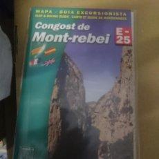 Mapas contemporáneos: MAPA Y GUIA - CONGOST DE MONTT-REBEI --EN ESPAÑOL CATALAN FRANCES E INGLES -REF-HAULDEPUCANINIZPA. Lote 145380986
