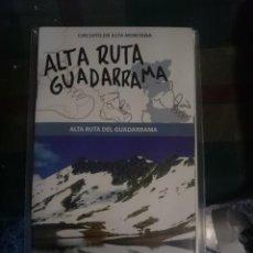 Mapas contemporâneos: MAPA Y GUIA - ALTA RUTA GUADARRAMA -REF-HAULDEPUCANINIZPAATR. Lote 145381054