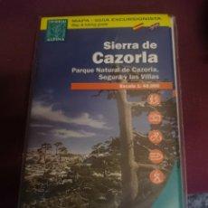 Mapas contemporáneos: MAPA Y GUIA SIERRA DE CAZORLA - PARQUE NATURAL CAZORLA - SEGURA - LAS VILLAS -EN ESPAÑOL E INGLES -. Lote 145454694