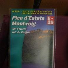 Mapas contemporáneos: MAPA Y GUIA -PICA D´ESTATS MONT-ROIG -VALL FERRERA - VALL DE CARDOS -REF-HAULDEPUCANINIZPADE. Lote 145454702