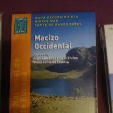 Mapas contemporáneos: MAPA Y GUIA EXCURSIONISTA MACIZO OCCIDENTAL -PARQUE NACIONAL DE PICOS DE EUROPA -EN ESPAÑOL FRANCES. Lote 145454710