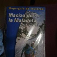 Mapas contemporáneos: MAPA Y GUIA DE INVIERNO - MACIZO DE LA MALADETA -REF-HAULDEPUCANINIZPADE. Lote 145454714