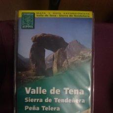 Mapas contemporáneos: MAPA Y GUIA - VALLE DE TENA - SIERRA DE TENDEÑERA - PEÑA TELERA -REF-HAULDEPUCANINIZPADE. Lote 145454734