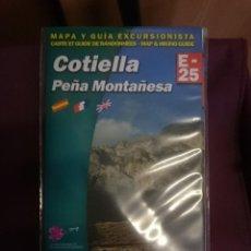 Mapas contemporáneos: MAPA Y GUIA - COTIELLA -PEÑA MONTAÑESA -EN ESPAÑOL FRANCES E INGLES -REF-HAULDEPUCANINIZPADE. Lote 145455042