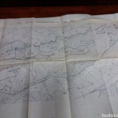 Mapas contemporáneos: MAPA DEL PARC NATURAL DE LA FONT ROJA ALCOY ALICANTE.. Lote 146088806