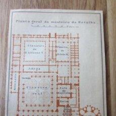 Mapas contemporáneos: 1901- MAPA PLANO ORIGINAL BAEDEKER.CALLES, PLAZAS, DETALLES. MONASTERIO DE BATALHA. PORTUGAL. Lote 146154710