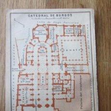 Mapas contemporáneos: 1901- MAPA PLANO ORIGINAL BAEDEKER.CALLES, PLAZAS, DETALLES. CATEDRAL DE BURGOS. Lote 146157658