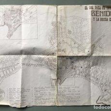 Mapas contemporáneos: PLANO CALLEJERO , CON LA INSCRIPCIÓN EL SOL PASA EL INVIERNO EN BENIDORM Y LA BRISA EL VERANO. Lote 147428574