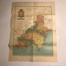 Mapas contemporáneos: ANTIGUO MAPA DE ALMERÍA. PROVINCIAS DE ESPAÑA . BARCELONA 1920. 13,6X21CM. MAPA 52X38,3CM. Lote 147504522
