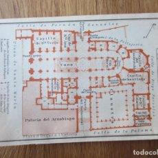 Mapas contemporáneos: 1908- MAPA PLANO ORIGINAL BAEDEKER.CALLES, PLAZAS, DETALLES. PORTO. CATEDRAL DE BURGOS. Lote 147520998