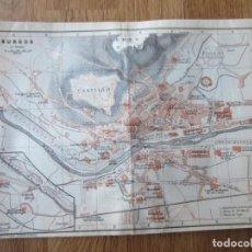 Mapas contemporáneos: 1908- MAPA PLANO ORIGINAL BAEDEKER.CALLES, PLAZAS, DETALLES. BURGOS. Lote 147524874
