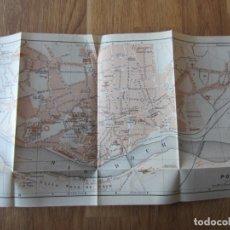 Mapas contemporáneos: 1908- MAPA PLANO ORIGINAL BAEDEKER.CALLES, PLAZAS, DETALLES. PORTO. OPORTO. PORTUGAL. Lote 147525886