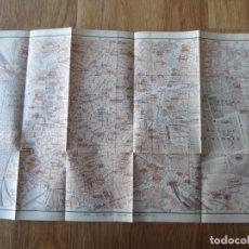 Mapas contemporáneos: 1908- MAPA PLANO ORIGINAL BAEDEKER.CALLES, PLAZAS, DETALLES. MADRID. GRANDE. Lote 147526230