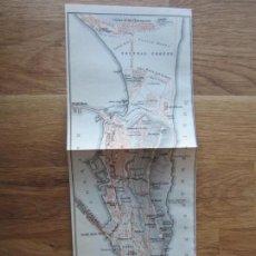 Mapas contemporáneos: 1908- MAPA PLANO ORIGINAL BAEDEKER.CALLES, PLAZAS, DETALLES. GIBRALTAR. Lote 147527506