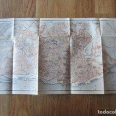 Mapas contemporáneos: 1908- MAPA PLANO ORIGINAL BAEDEKER.CALLES, PLAZAS, DETALLES. LISBOA. PORTUGAL. GRANDE. Lote 147528118