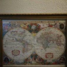 Mapas contemporáneos: MAPA DEL MUNDO DE LA IGLESIA DOMINICANA. Lote 147555517