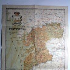 Mapas contemporáneos: MAPA ENTELADO DE PONTEVEDRA * 46 CM X 36 CM * GALICIA. Lote 147741842