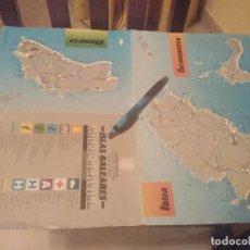 Mapas contemporáneos: ANTIGUO MAPA DESPLEGABLE GOVERN BALEAR ISLAS BALEARES MALLORCA MENORCA IBIZA FORMENTERA 1987. Lote 178887640