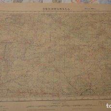 Mapas contemporáneos - ANTIGUO MAPA.CORNUDELLA.TARRAGONA.EDICION MILITAR.1952 - 147764390