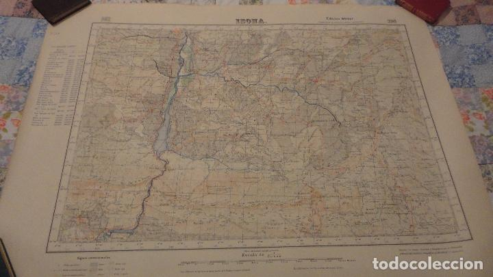 ANTIGUO MAPA ISONA LERIDA.EDICION MILITAR 1950 (Coleccionismo - Mapas - Mapas actuales (desde siglo XIX))