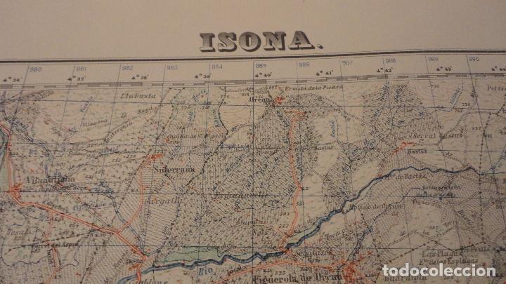 Mapas contemporáneos: ANTIGUO MAPA ISONA LERIDA.EDICION MILITAR 1950 - Foto 2 - 147774066