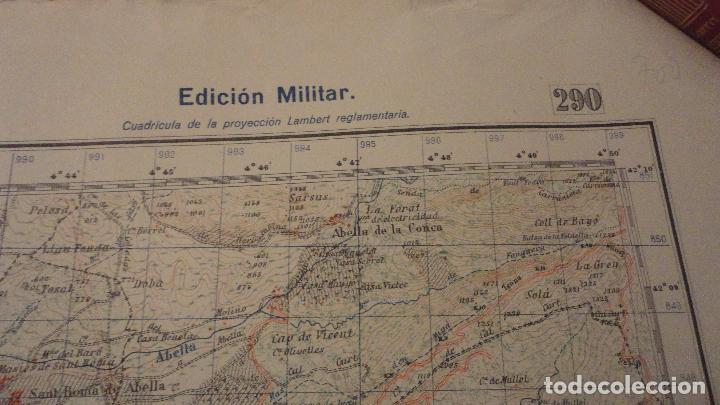 Mapas contemporáneos: ANTIGUO MAPA ISONA LERIDA.EDICION MILITAR 1950 - Foto 3 - 147774066