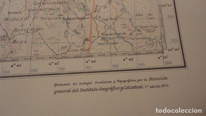 Mapas contemporáneos: ANTIGUO MAPA ISONA LERIDA.EDICION MILITAR 1950 - Foto 4 - 147774066