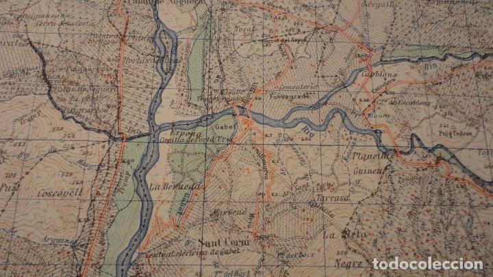 Mapas contemporáneos: ANTIGUO MAPA ISONA LERIDA.EDICION MILITAR 1950 - Foto 5 - 147774066