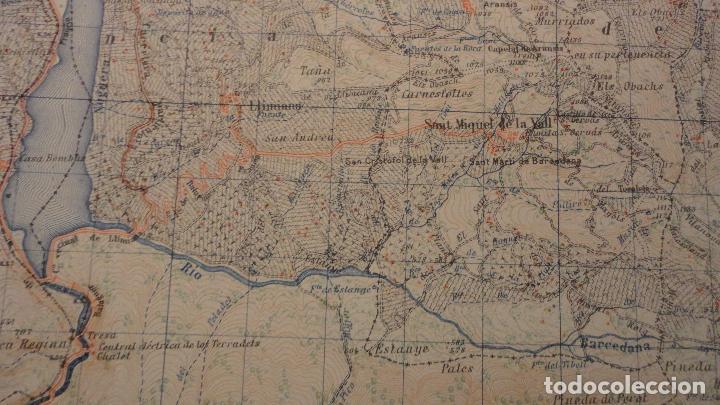 Mapas contemporáneos: ANTIGUO MAPA ISONA LERIDA.EDICION MILITAR 1950 - Foto 6 - 147774066