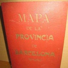 Mapas contemporáneos: MAPA DE LA PROVINCIA DE BARCELONA. A MARTIN EDITOR. 1918. MAPA ENTELADO Y EN PERFECTO ESTADO.. Lote 148017854