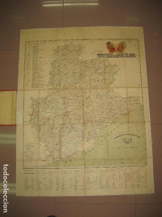 Mapas contemporáneos: MAPA DE LA PROVINCIA DE BARCELONA. A MARTIN EDITOR. 1918. MAPA ENTELADO Y EN PERFECTO ESTADO. - Foto 2 - 148017854