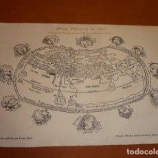 Mapas contemporáneos: MAPA UNIVERSAL DE 1503 REPRODUCCIÓN PUBLICADA POR CARLOS SANZ. Lote 148171958